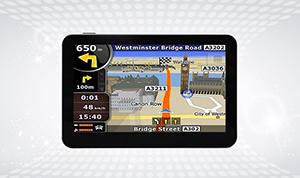 Black touchscreen GPS World
