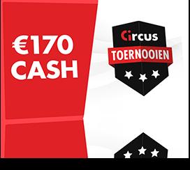 € 170 cash op het spel met de Circus-casinotoernooien