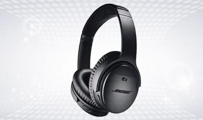 Zwarte Bluetooth-hoofdtelefoon