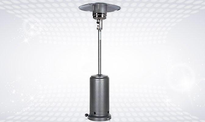 Grey outdoor heater
