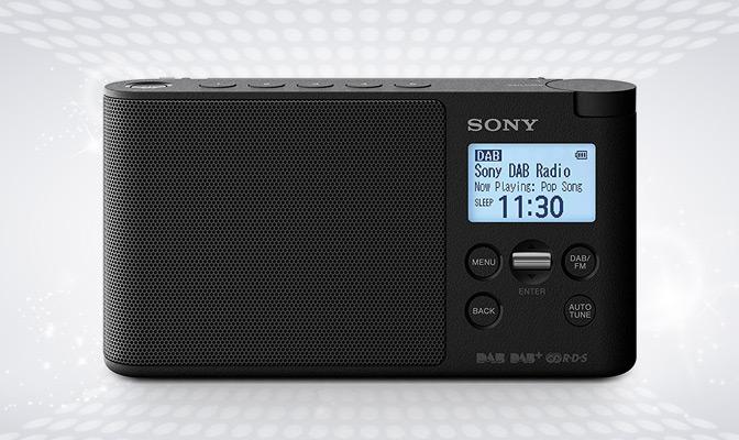 Black Sony portable radio