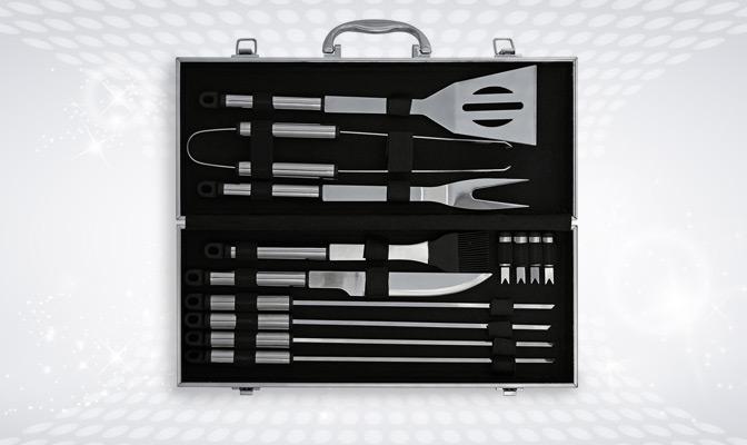 Steel barbecue tool kit