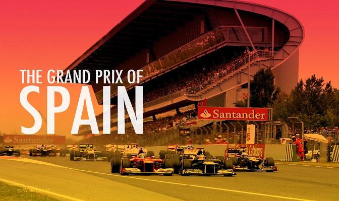 Grand Prix van Spanje met tribunes