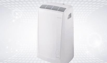 White DeLonghi air conditioner