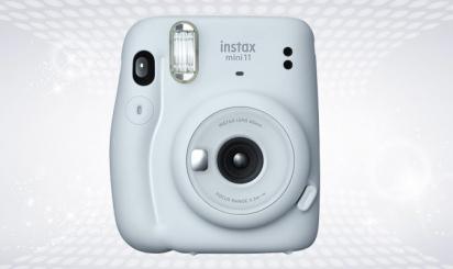 Lichtblauwe Polaroid Instax Mini 11-instantcamera