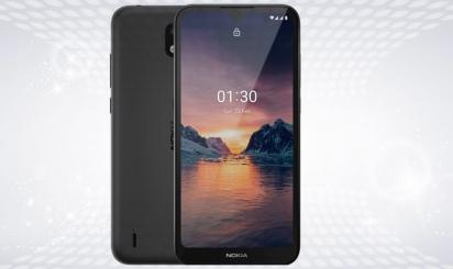 Zwarte Nokia 1.3-smartphone