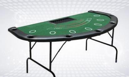Foldable blackjack table