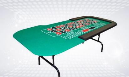 Foldable roulette table